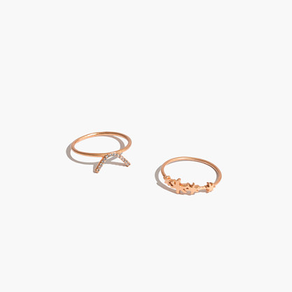 Star System Ring Set