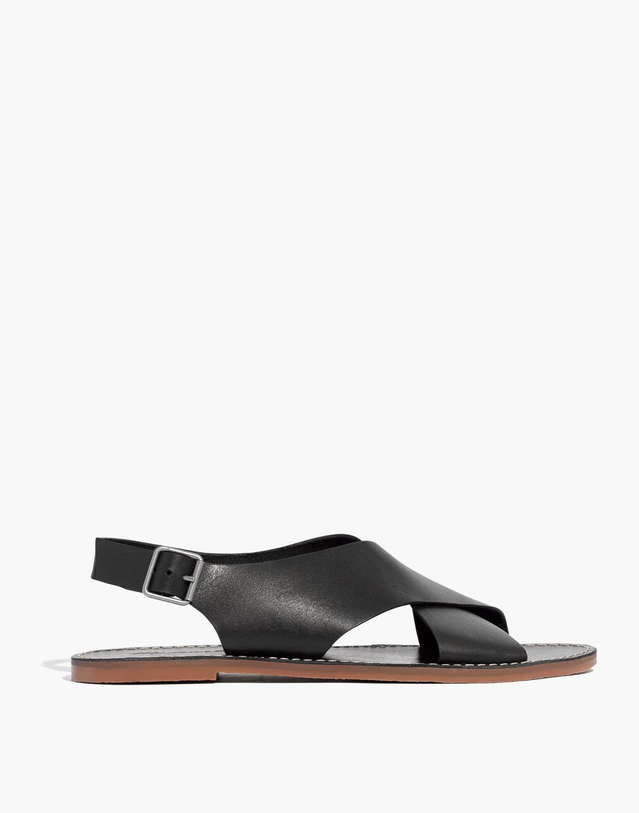 The Boardwalk Crossover Sandal in true black image 2