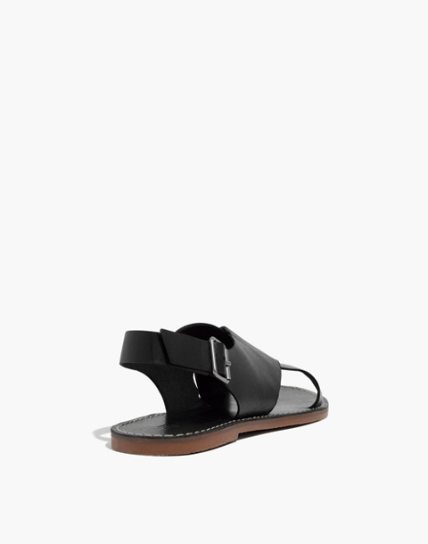 The Boardwalk Crossover Sandal in true black image 3