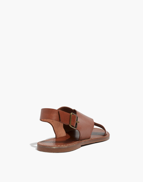 The Boardwalk Crossover Sandal in english saddle image 3