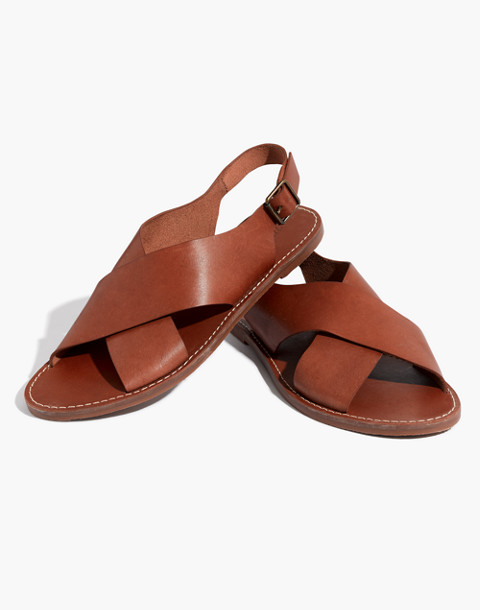 The Boardwalk Crossover Sandal in english saddle image 1