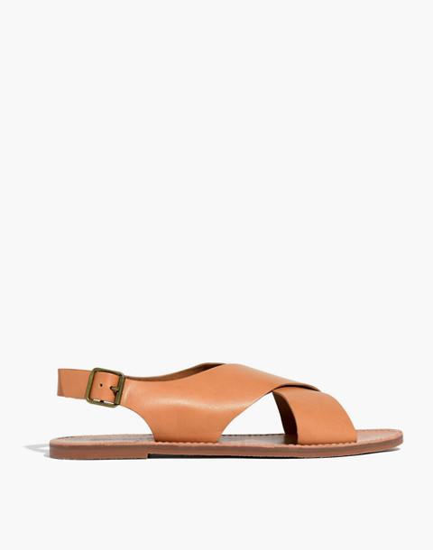 The Boardwalk Crossover Sandal in desert camel image 3