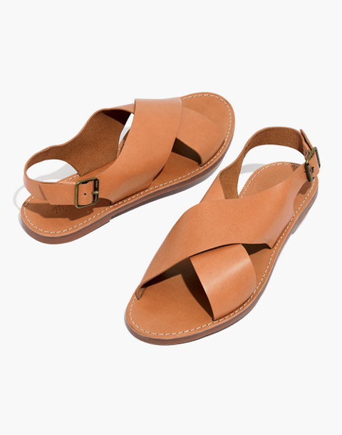 The Boardwalk Crossover Sandal in desert camel image 1
