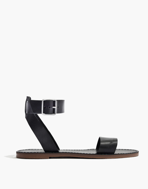The Boardwalk Ankle-Strap Sandal in true black image 2