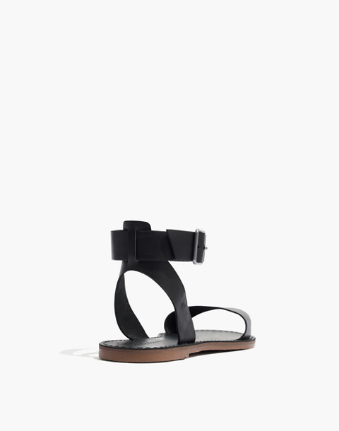 The Boardwalk Ankle-Strap Sandal in true black image 3