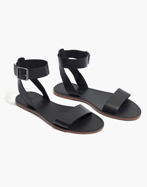 The Boardwalk Ankle-Strap Sandal in true black image 1