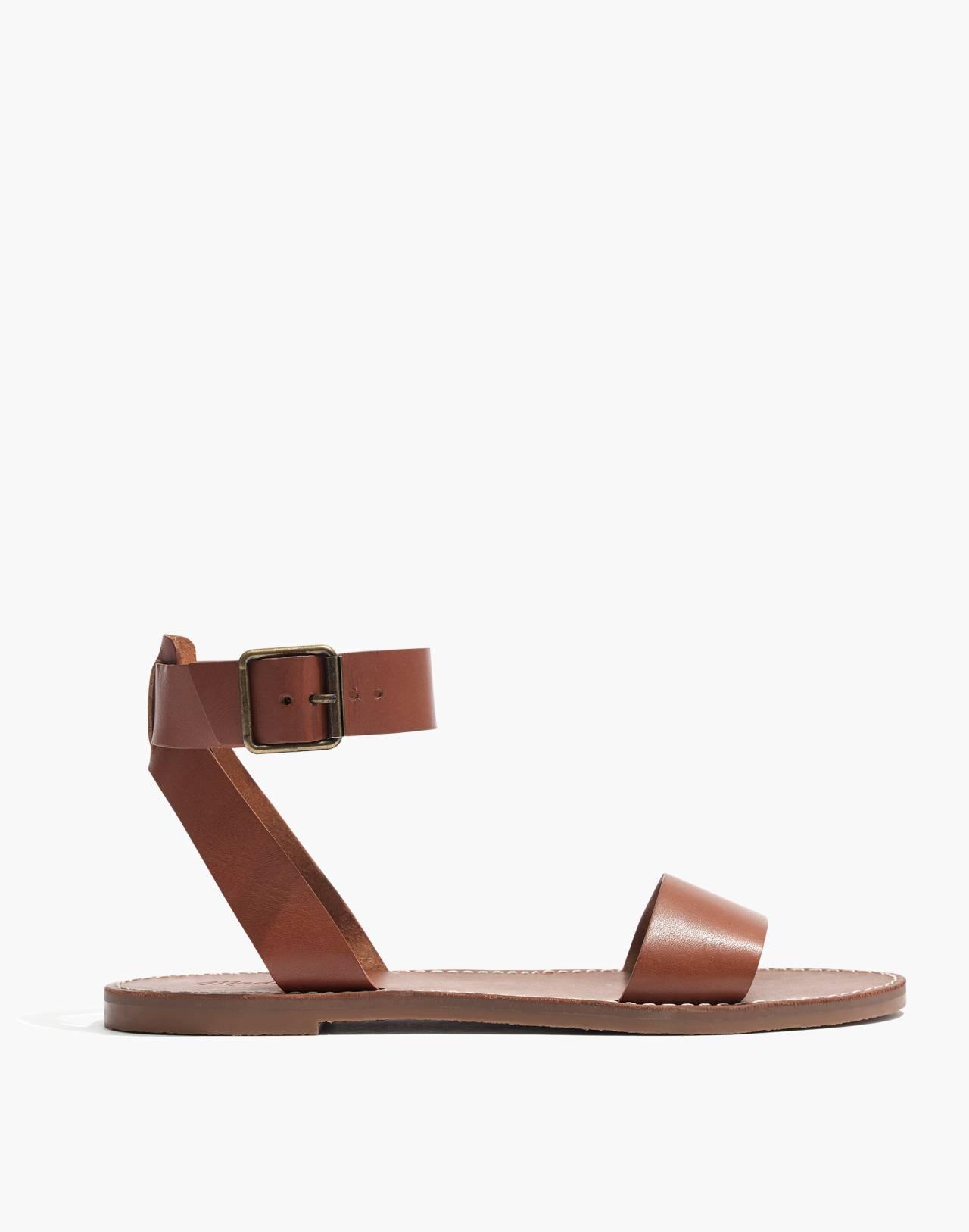 The Boardwalk Ankle-Strap Sandal in english saddle image 3