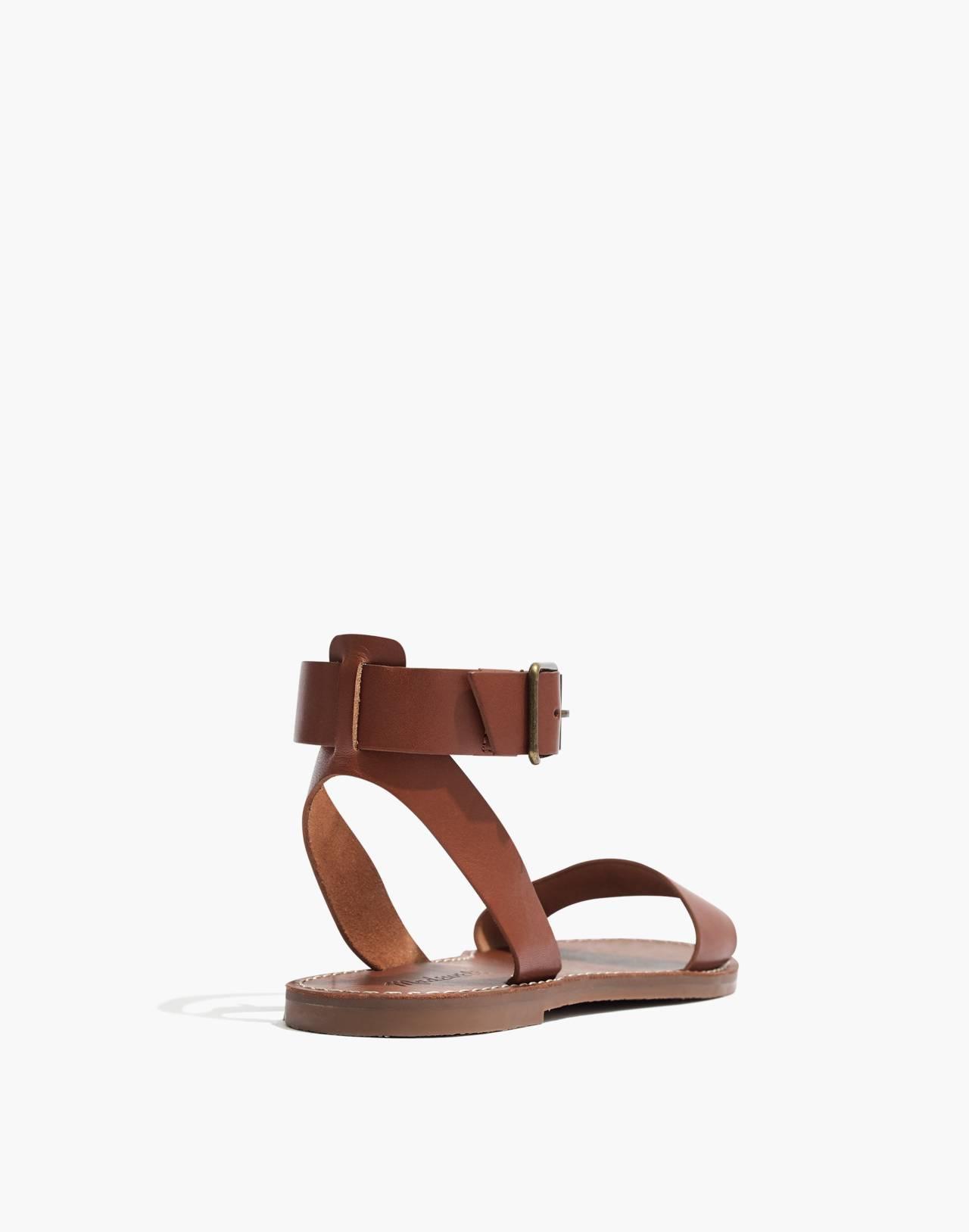 The Boardwalk Ankle-Strap Sandal in english saddle image 4