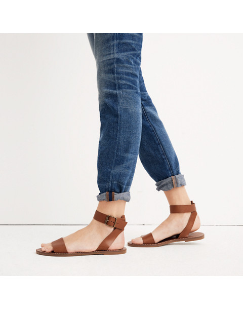 The Boardwalk Ankle-Strap Sandal in english saddle image 2