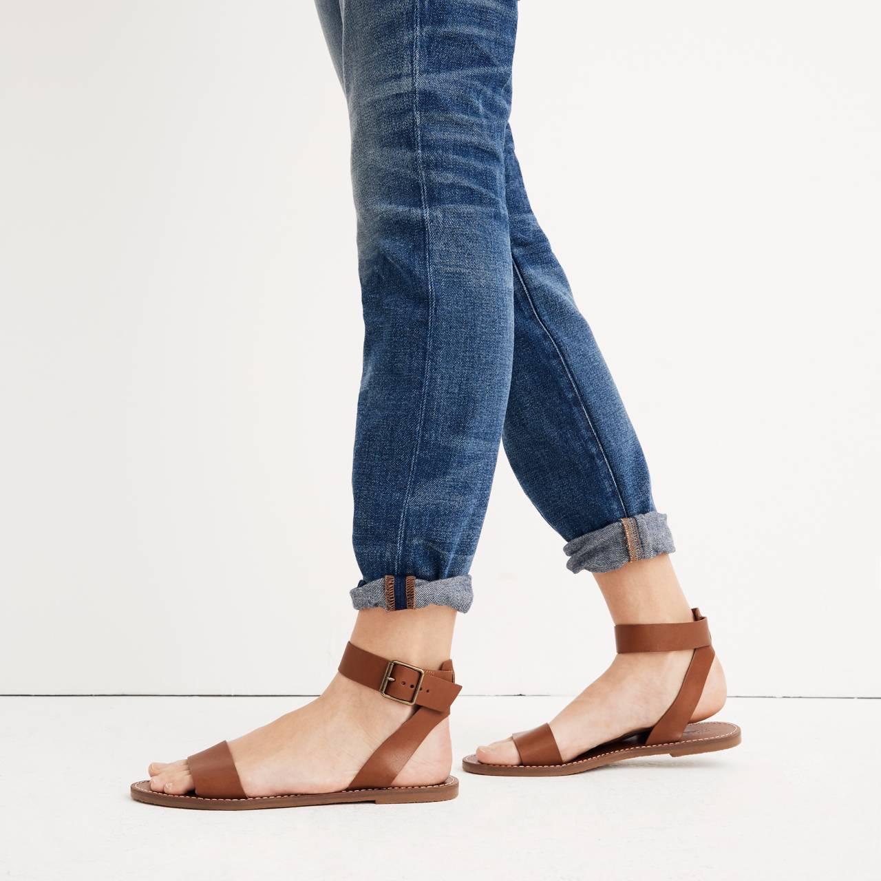 The Boardwalk Ankle-Strap Sandal in english saddle image 2