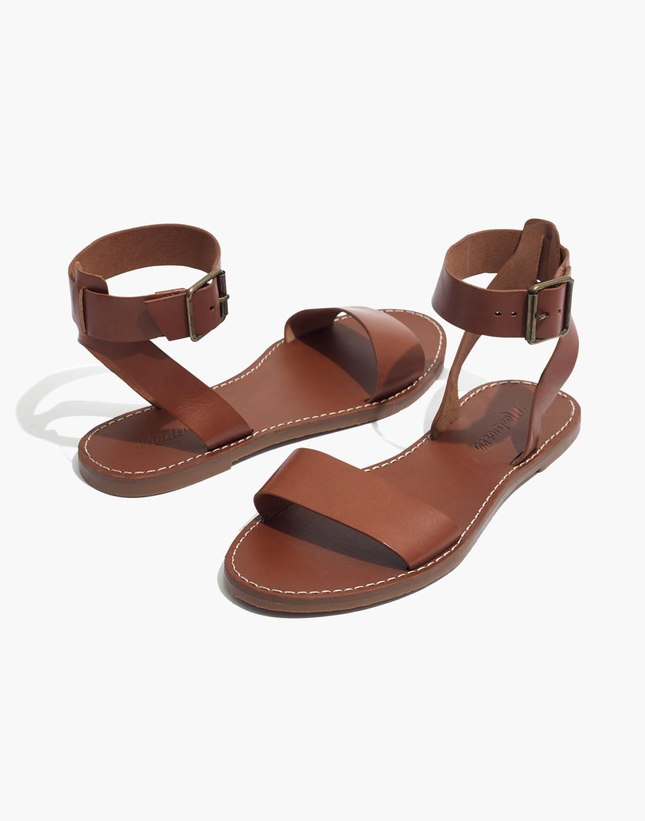 The Boardwalk Ankle-Strap Sandal in english saddle image 1