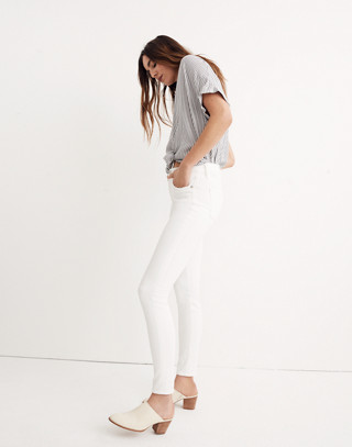 """Petite 9"""" High-Rise Skinny Jeans in Pure White in pure white image 2"""