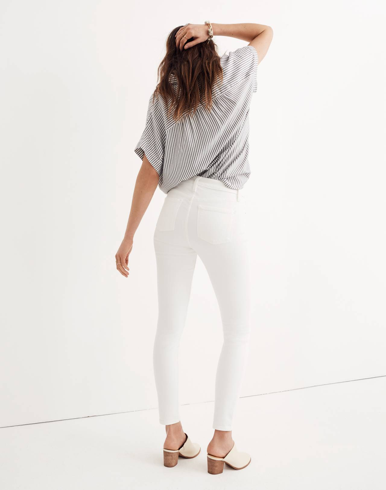 """Tall 9"""" High-Rise Skinny Jeans in Pure White in pure white image 3"""