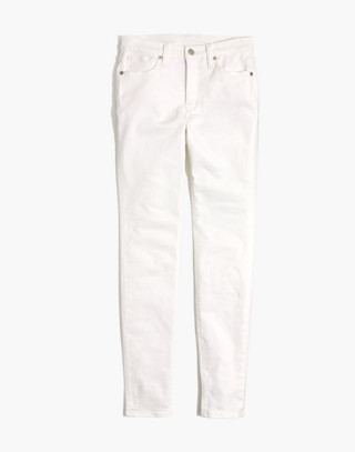"""Petite 9"""" High-Rise Skinny Jeans in Pure White in pure white image 4"""