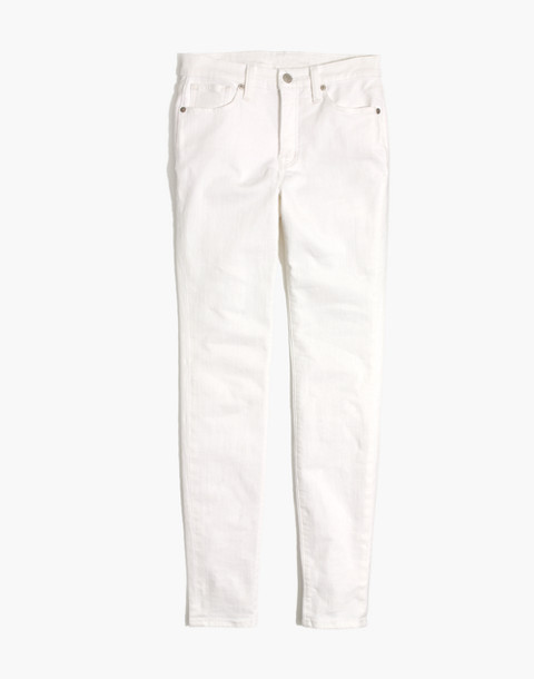 "Petite 9"" High-Rise Skinny Jeans in Pure White in pure white image 4"