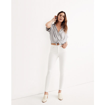 "Tall 9"" High-Rise Skinny Jeans in Pure White"