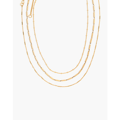 Delicate Chain Necklace Set