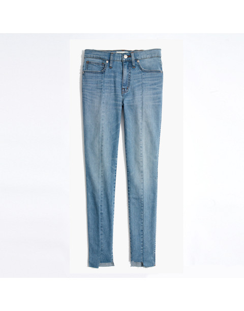 "9"" High-Rise Skinny Jeans: Seamed Step-Hem Edition in august wash image 4"