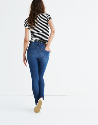 "Petite 9"" High-Rise Skinny Jeans in Patty Wash in patty wash image 3"