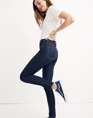 """Petite 10"""" High-Rise Skinny Jeans in Lucille Wash"""
