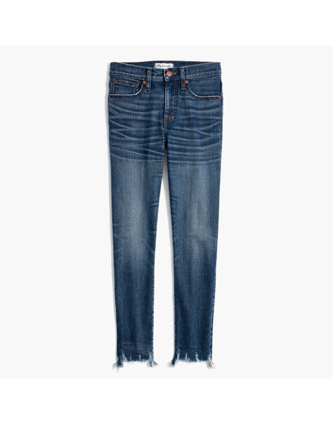 "9"" High-Rise Skinny Crop Jeans: Destructed-Hem Edition in miranda wash image 4"