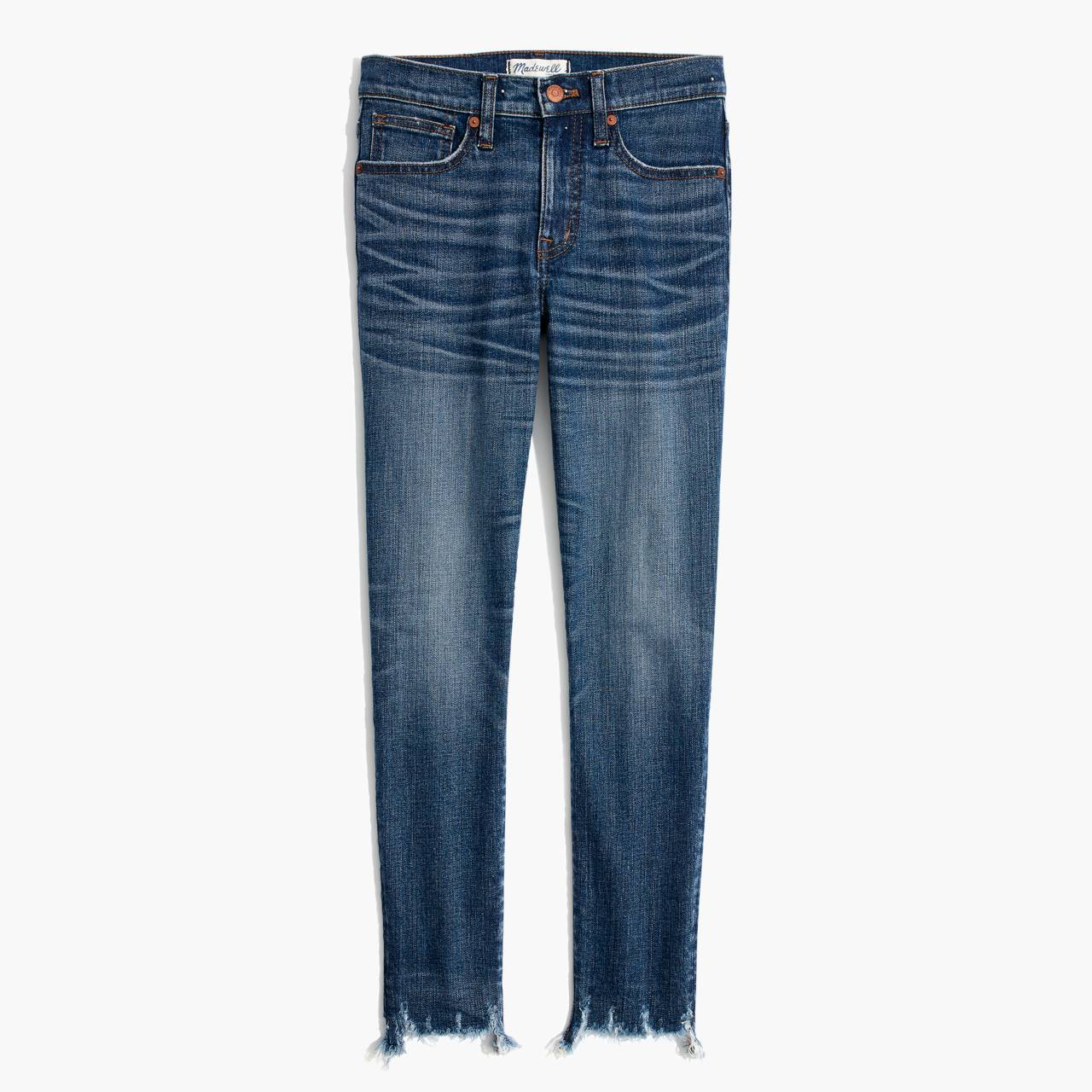 "9"" High-Rise Skinny Crop Jeans: Destructed-Hem Edition in miranda wash image 4"
