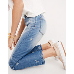 The Short Perfect Summer Jean: Daisy Embroidered Edition
