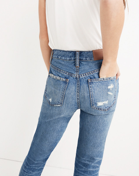 The Perfect Summer Jean: Destructed Edition in robinson wash image 3