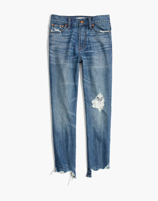 The Perfect Summer Jean: Destructed Edition in robinson wash image 4