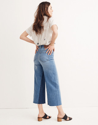 Tall Wide-Leg Crop Jeans: Gusset Edition in jerry wash image 3