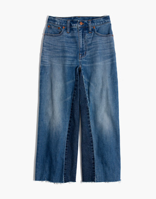 Tall Wide-Leg Crop Jeans: Gusset Edition in jerry wash image 4