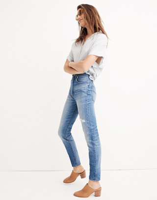 Rigid High-Rise Skinny Jeans in napa wash image 2