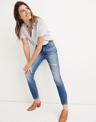 Rigid High-Rise Skinny Jeans in napa wash image 1