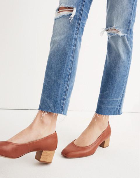 The High-Rise Slim Crop Boyjean: Knee-Rip Edition