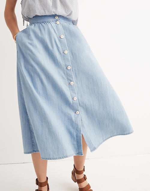 ad4aecd9c4 Palisade Button-Front Midi Skirt in Indigo in null image 2