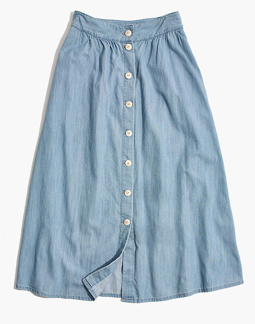 a1eba3067b Palisade Button-Front Midi Skirt in Indigo in null image 4
