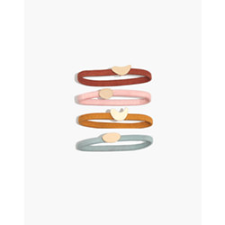 Four-Pack Abstract Shapes Hair Ties