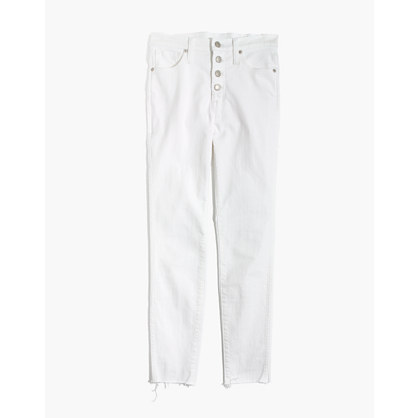 "10"" High-Rise Skinny Crop Jeans: Button-Front Edition"