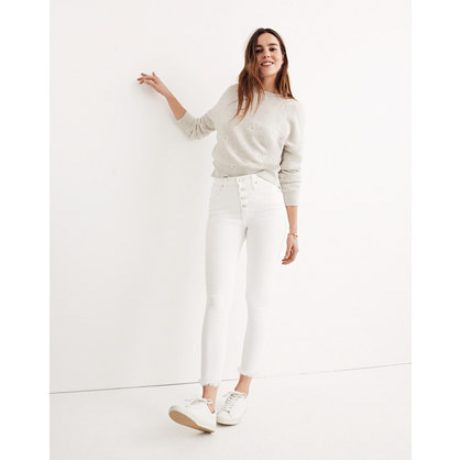 """10"""" High-Rise Skinny Crop Jeans: Button-Front Edition"""