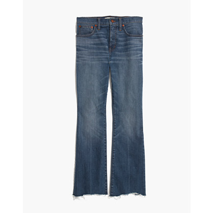 Cali Demi-Boot Jeans: Destructed-Hem Edition