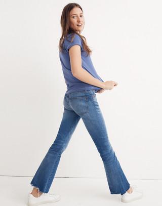 Cali Demi-Boot Jeans: Destructed-Hem Edition