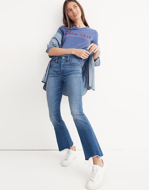 10cd3699779fb Tall Cali Demi-Boot Jeans  Destructed-Hem Edition in haywood wash image 1