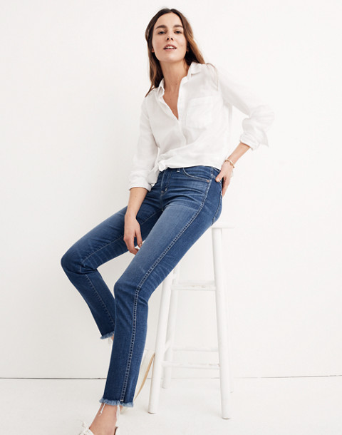 Slim Straight Jeans: Raw-Hem Edition