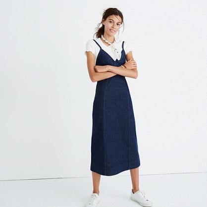 Denim Cami Midi Dress