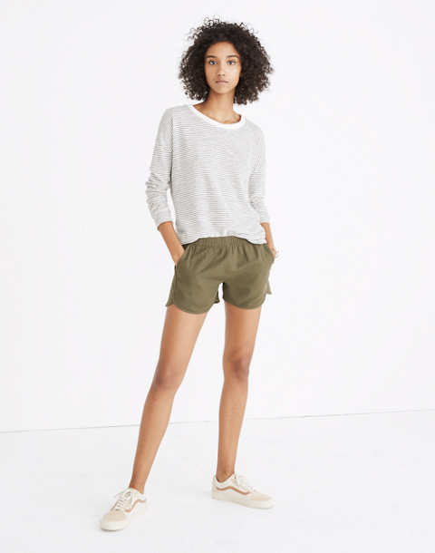 Pull-On Shorts in birch leaf image 1