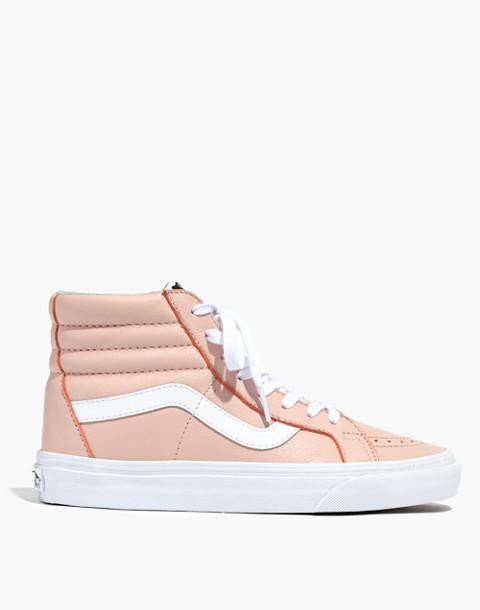 Vans® Unisex SK8-Hi Reissue High-Top Sneakers in Oxford Pink Leather in oxford pink image 3