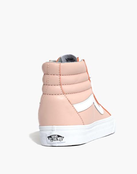 Vans® Unisex SK8-Hi Reissue High-Top Sneakers in Oxford Pink Leather in oxford pink image 4
