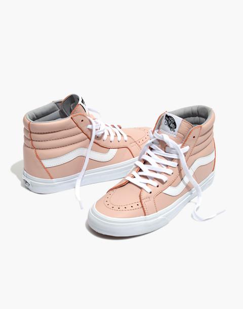 Vans® Unisex SK8-Hi Reissue High-Top Sneakers in Oxford Pink Leather in oxford pink image 1