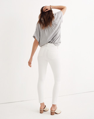 """Petite 9"""" High-Rise Skinny Jeans in Pure White"""