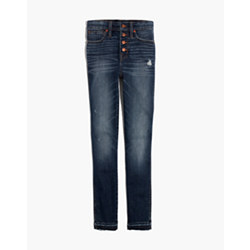 "Tall 10"" High-Rise Skinny Jeans: Drop-Hem Edition"